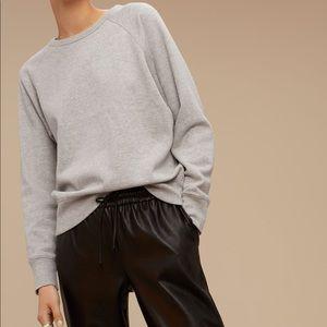 Aritzia Wilfred Free Grey Crewneck Sweatshirt